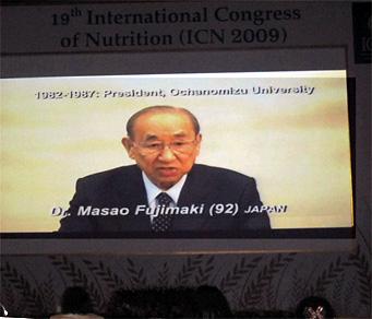 19th国際栄養学会議(ICN)のLiving Legendsセッション