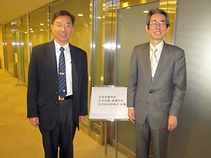 Wang NST会長と矢ヶ崎本学会前会長