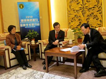 Dr.C. Yiyong CNS会長との会談風景
